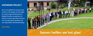 Symbolische laatste aansluiting in Witteveen