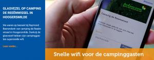 Snelle wifi voor de campinggasten dankzij glasvezel